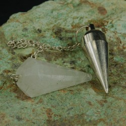 Bergkristal pendel dubbel