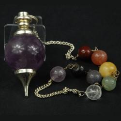 Amethist chakra pendel