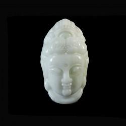 Kwan Yin jade amulet-hanger
