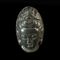 Kwan Yin pyriet amulet-hanger