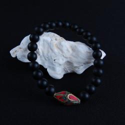 zwart obsidiaan armband