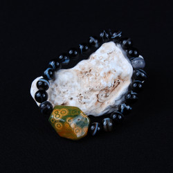 Atlantissteen met agaat armband