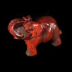 Olifant gevlamde Jaspis