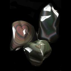 Regenboog Obsidiaan hart